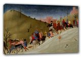 Sassetta, Stefano di Giovanni: The Journey of the Magi. Fine Art Canvas. Sizes: A3/A2/A1 (00222)